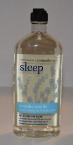1 Bath & Body Works Aromatherapy SLEEP BODY WASH LAVENDER VANILLA 10FL