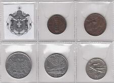 REGNO D'ITALIA 5 MONETE DIVERSE FASCISMO SERIE IMPERO Italy Kingdom Coins Stemma