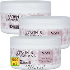 Hydrating Mask 3 x 500ml Argan & Macadamia Biacrè ® Nourishing Conditioner