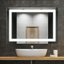 "Homcom 28"" Led Bathroom Wall Mirrors with Illuminated Light Makeup Vanity Mirror"