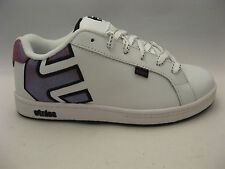 Etnies Big Girls Skate Shoes Size 5 White Leather Fuchsia Sparkle Youth