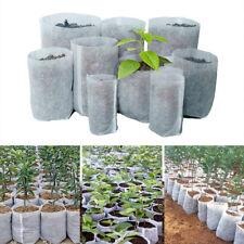 100x Degradable Non-Woven Plant Nursery Bags Planting Bags Home Garden Supply 1X