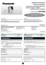 Panasonic SH-FX60 Wireless System Owners Instruction Manual