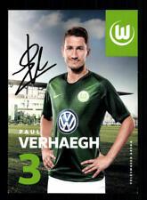 Paul Verhaegh Autogrammkarte VFL Wolfsburg 2018-19 Original Signiert+A 205560