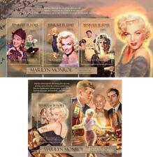 Marilyn Monroe Cinema Hollywood Music Kennedy JFK DiMaggio Guinea MNH stamp set