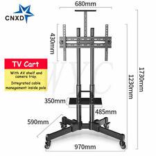 Mobile Cart TV Stand Bracket Mount Adjustable for 32-65'' Inch Flat LED Screen