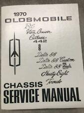1970 Oldsmobile F85 CUTLASS 442 VISTA DELTA TORNADO 88 98 Service Manual REPRINT