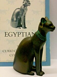 A FRANKLIN MINT CURIO CABINET CAT COLLECTION FIGURINE THE --EGYPTIAN-- NO CERTIF