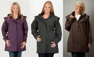 Womens 3/4 Length Ladies Waterproof Riding Cape Jacket Raincoat