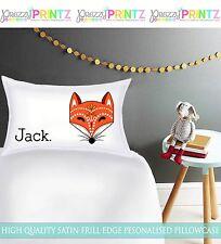 Personalizzato Ragazzi Ragazze Fox Federa Natale Compleanno regalo di lusso per bambini