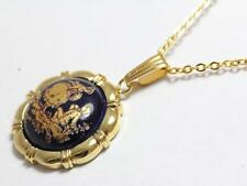 Limoges Pendant Charm Pottery Gold Plating Necklace Women's 16""