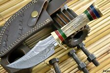 Custom Damascus Steel Hunting Knife Handmade With Stag Horn Handle (Z239)