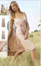New *Next* (size 16 Petite) Nude Velvet & Sequin Wrap Style Dress .