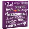 Purple Memo Slip In Case Photo Album 10 x 15 cm For 200 Photos MEMORIES