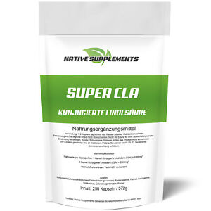 CLA - 250 Kapseln a 1000mg - Muskelaufbau Fat bruner Diät Abnehmen Extrem Testo