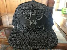 Black Batman Logo  Mens Snapback Hats
