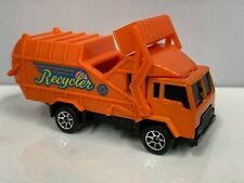 1995 Hot Wheels Orange Recycling Truck Opening in Top 7 Spk Wheels