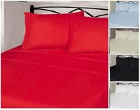 """Luxuries 100% Brushed Cotton Extra Deep Fitted Sheet 12""""(30cm) Box Bed Sheets"""