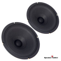 """PAIR Peavey Blue Marvel 10"""" 8ohm guitar speaker great 4 combo amp replacement"""