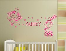Personalised Ben & Holly's Wands 9 Stars Wall Art Stickers Vinyl Decals Decor D2
