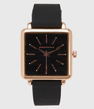 aeropostale womens rubber square analog watch black