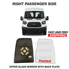 Ford Transit 150 250 350 Mirror Upper Large Glass Heated RH Passenger 2014-2018