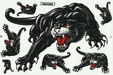 PLANCHE A4  TUNING 7 AUTOCOLLANT STICKER PANTHERE DIM. 26,5 X 17 CM