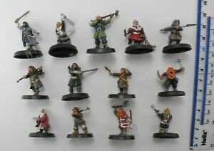 13 THORIN'S COMPANY Plastic Hobbit Lord of the Rings Dwarfs Army Warhammer 84