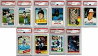 (10) Card Lot 1974-1984 PSA Graded MINNESOTA TWINS Baseball MLB