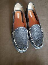 Womens Geox Respira Blue Leather Loafers Shoes US10.5 (EUR 41)