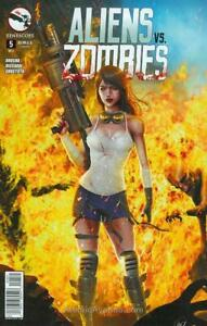 Aliens Vs. Zombies #5C VF; Zenescope | save on shipping - details inside