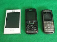 Handy Smartphone 2x NOKIA 1x LG Konvolut Trödel Dachbodenfund Bastler defekt?
