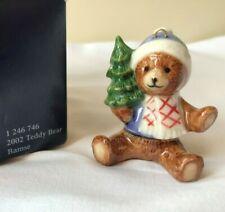 Royal Copenhagen Teddy Bear w Christmas Tree Ornament - Artist Sven Vestergaard