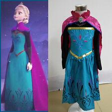 Girl Frozen Coronation Dress Costume Princess Queen Elsa Cosplay Party Halloween