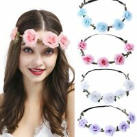 Festival Hairband Flowers Crown Roses Girls Children's Communion Children