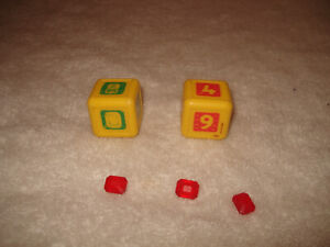1992 FORBIDDEN BRIDGE Game Replacement Parts Dice Jewels