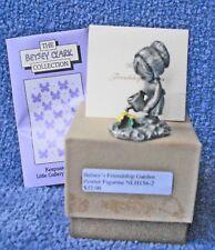 1979 Hallmark Little Gallery Betsey Clark Pewter Figurine Friendship Garden -Mib