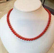 collana corallo  rosso  7 mm    gr. 33,00