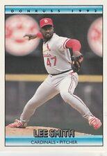 FREE SHIPPING-MINT-1992 Donruss St. Louis Cardinals Baseball Card #112 Lee Smith