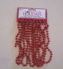 Darice Home for the Holidays Metallic Red Bead Garland 8MM x 9' Christmas