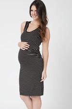 NEW Ripe MATERNITY Tank Sleeveless Fitted Dress Stripes LARGE US 10-12 $78