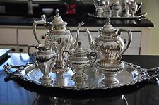GRAND DUCHESS International Silver  Silver Plated Coffee/Tea Pot Set - GORGEOUS