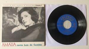 """FADO ORIGINAL EP 7"""" COLUMBIA PORTUGAL 1965 AMALIA RODRIGUES CANTA LUIS CAMOES"""
