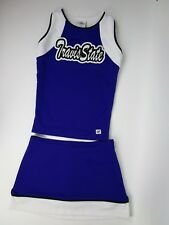 "Purple Cheerleader Uniform Travis State Adult Sized 34"" Top 26-30 Skirt Choose"