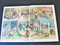 1881/82 The too much Married-Political Magazine Judge Centerfold Colored Art.