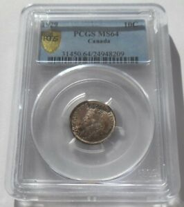 Canada 10 Cents 1929 PCGS MS64