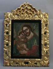 RETABLO  SAN JOSE Y EL NINO JESUS ( St Joseph with the Christ Child) Mexico.