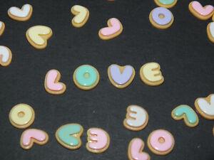 20 Pcs Mixed LOVE Word Letters Candy Cartoon Flatback Resin 10mm Cabochon DIY UK