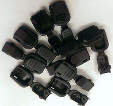 (10) Black Plastic Zipper Pulls Cord Lock Ends Paracord Tactical Zip Rope # 9