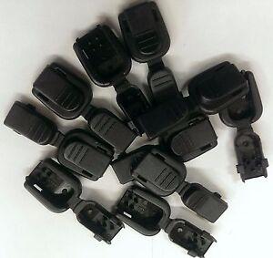 """10 Black Plastic Zipper Pulls Cord Lock End Paracord Tactical Zip """"No Tie Shoe"""""""